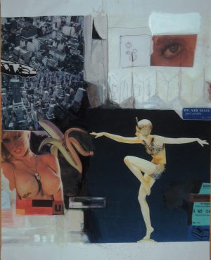 Stephan Pfeffer, Marie (dance), C-Print und Acryl auf Textil