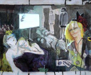 Stephan Pfeffer, About Being Human, C-Print und Acryl auf Textil