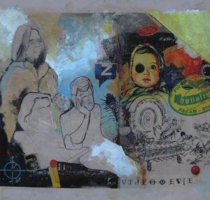 Stephan Pfeffer, Golden Triangle, C-Print und Acryl auf Textil
