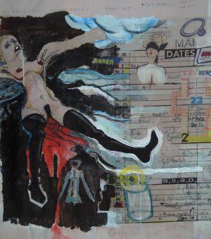 Stephan Pfeffer, Maqyday, C-Print und Acryl auf Textil
