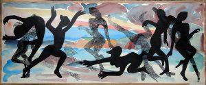 Josef O. Wladar, Tänzerinnen I, Mischtechnik auf Papier, undatiert