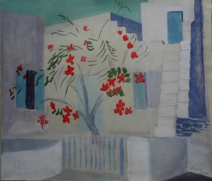 Josef O. Wladar, Architekturszene Aquarell auf Papier, undatiert