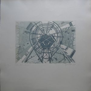 Unbekannt, Uno-City Wien, Blatt 3 Variation 2 Radierung 31/99 signiert