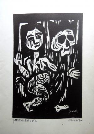 Jakob, Totentanz, Holzschnitt signiert