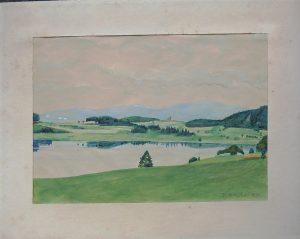 F. Herschel, Semmering Niederösterreich, Aquarell datiert 1955, originalsigniert