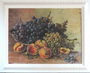 Zejlko KOPIC (Rovinj Kroatien), Fruchtschale, Öl auf Pressspan gerahmt, originalsigniert
