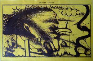 Arnulf Rainer, o. T., Plakat von 1969 für die Galerie Forum 67 Linz Badgasse 7 vom 14. IV. – 14. V. 1969